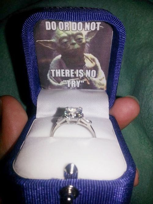 yoda,star wars,engagement,wedding,marriage,proposal,propose,ring