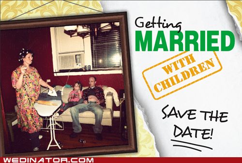 save the date card invitation married with children - 6656158208