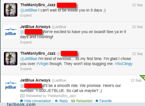 tweet twitter jetblue virgin america flying airplane flight