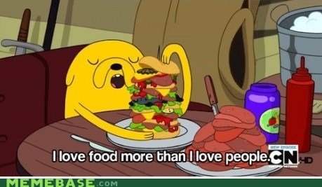 adventure time,food,people,delicious,sandwiches,Memes