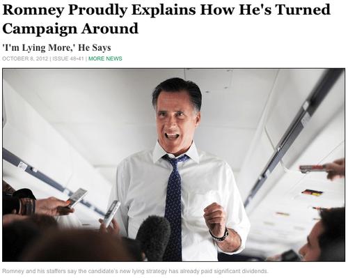 Mitt Romney lying the onion campaign - 6656383232