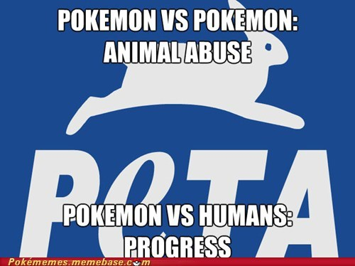 peta,Pokémon,Animal Abuse,smart move