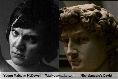 funny TLL art actor celeb Malcolm McDowell michelangelos-david - 6656527872