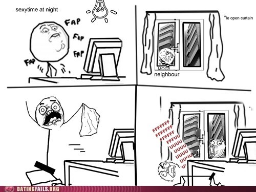 fap FAIL Rage Comics sexytime curtains We Are Dating - 6656669952