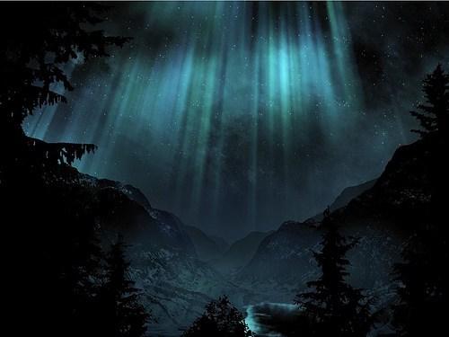 frozen lights frozen landscape aurora borealis - 6656816640