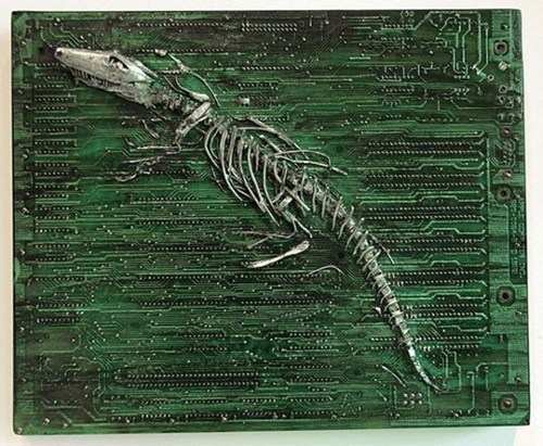 design,art,circuit board,fossils