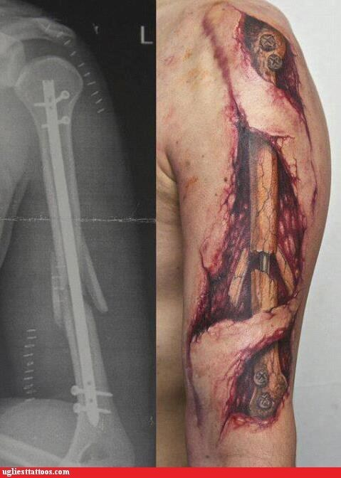 arm tattoos,bone,x ray