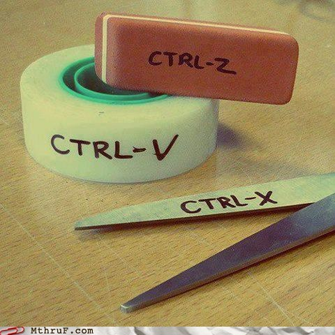ctrl x ctrl v ctrl c tape Paste copy and paste cut copy scissors eraser