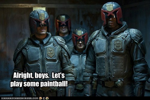 paintball,dredd,judges,ready,armor