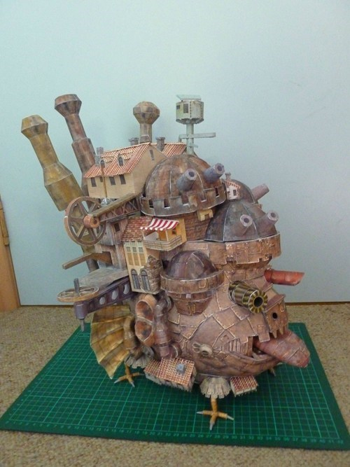 howls-moving-castle,papercraft,fandom,nerdgasm,model,best of week,Hall of Fame