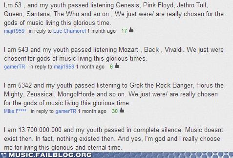 music history,gods,Music
