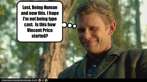 being human bad guy horror mark pellegrino Jeremy Baker type cast vincent price revolution lost