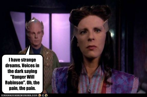 Babylon 5 danger-will-robinson Mira Furlan dreams past lives Dlenn Lost In Space - 6657885952
