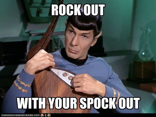 Music rock out Spock Leonard Nimoy Star Trek - 6658316288