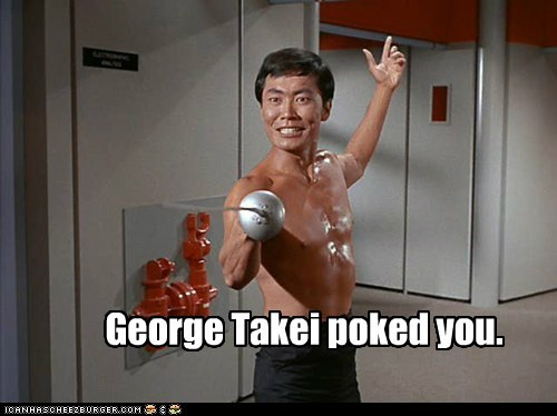 dream,Fencing,shirtless,facebook,sword,poked,Star Trek,sulu,george takei