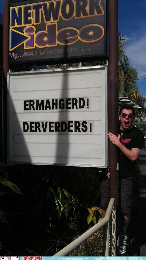 Ermahgerd,sign,dvds,video rental