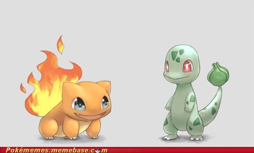 wtf,starters,grass type,fire type,charmander,bulbasaur