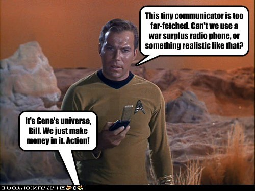 radio Captain Kirk realism gene roddenberry Star Trek William Shatner Shatnerday communicator - 6658430208