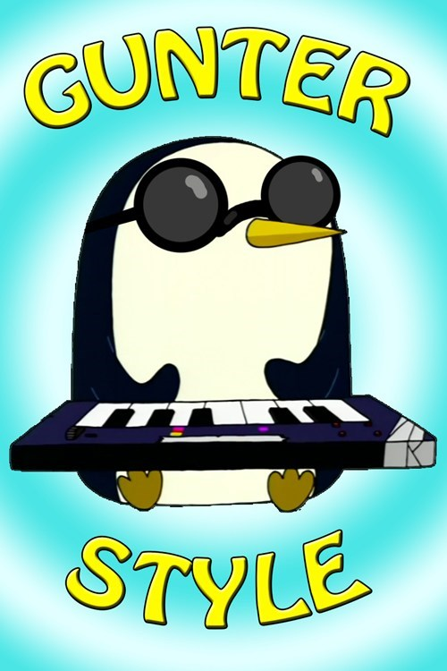 adventure time gunter gangnam style cartoons - 6658740992
