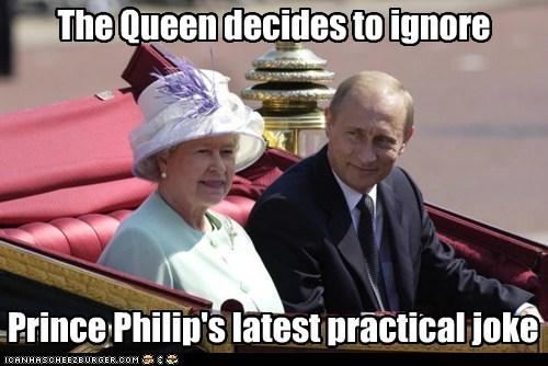practical joke Queen Elizabeth II Prince Philip ignore Vladimir Putin - 6658794240