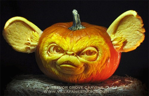 gremlins mogwai dont-feed-them-after-midnight pumpkin carving jack o lanterns gizmo