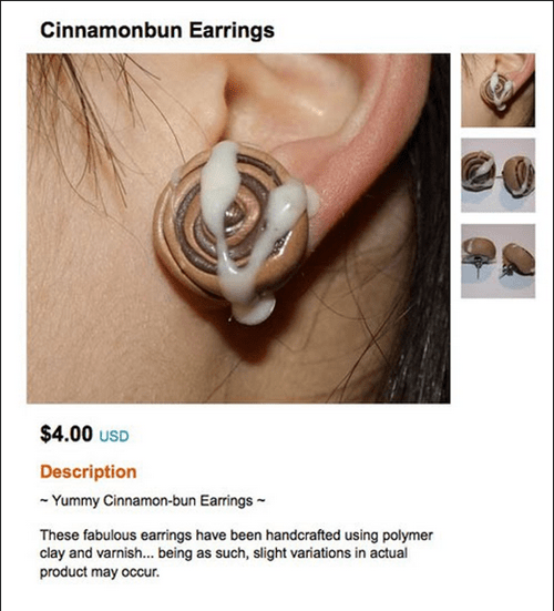 cinnamon buns earrings looks like - 6659017728