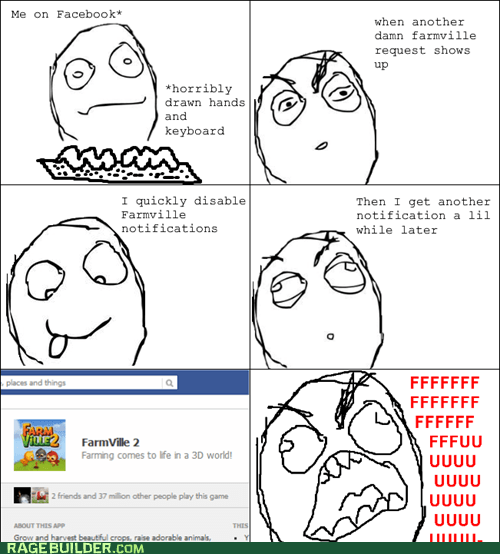 games rage guy Farmville notifications facebook dumb FUUUUU - 6659059712