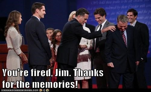 jim lehrer fired thanks memories PBS Mitt Romney debate