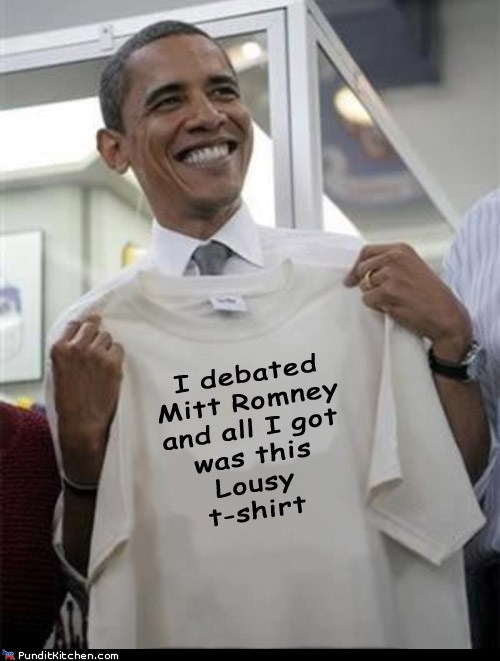 barack obama,debate,Mitt Romney,all i got,lousy,T.Shirt
