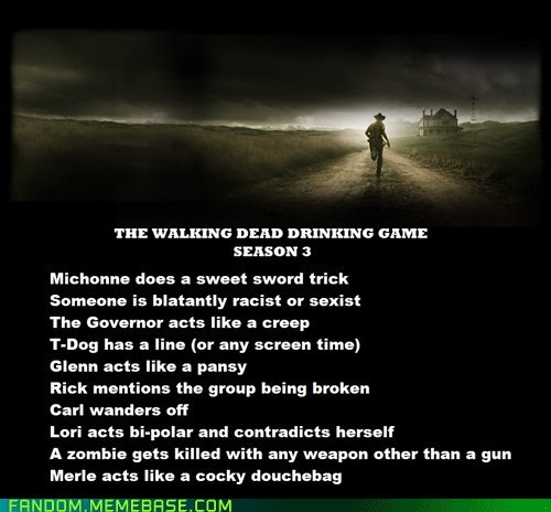 The Walking Dead,drinking game,TV