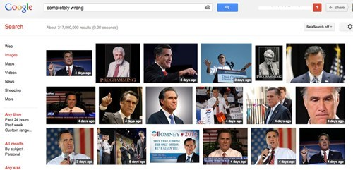 Mitt Romney completely wrong google image search - 6659557376