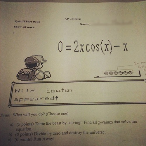 oh no,math,test humor,word problems,Pokémon,categoryvoting-page