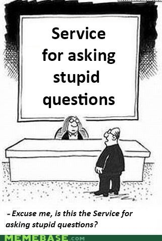 stupid questions service what people are dumb - 6659658752