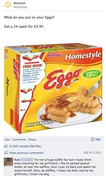 waffles shoppers beware facebook Walmart eggo trolling - 6659774976