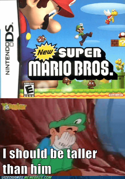 luigi depressed taller higher jump mario - 6659807232
