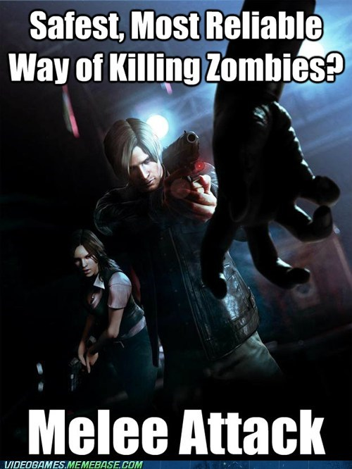 resident evil 6,video game logic,zombie,melee