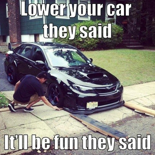 lower your car body kit ground effects suped up car suped up subaru