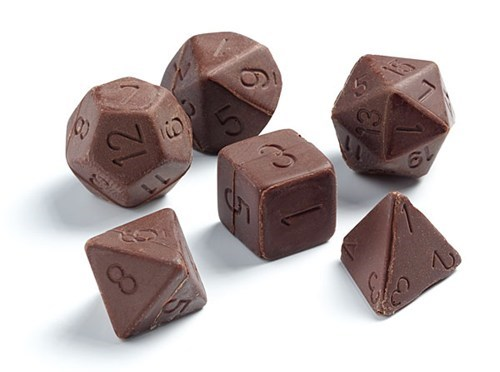 dice D20 role playing RPG d&d dungeons and dragons chocolate tabletop dd - 6659918336