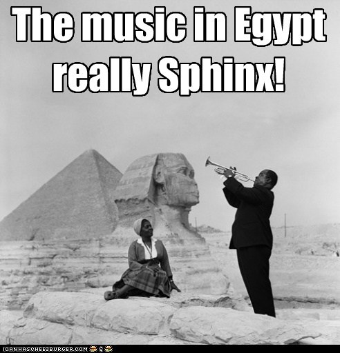 louie armstrong egypt trumpet sphinx - 6659995392