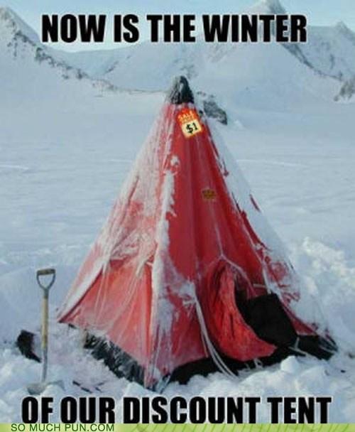 discontent shakespeare william shakespeare quote richard III winter discount tent similar sounding literalism - 6660087552