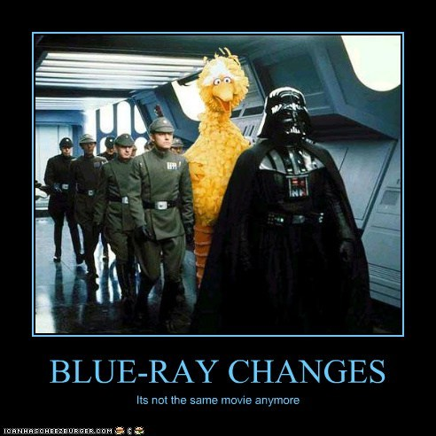 funny Movie star wars Sesame Street TV big bird darth vader demotivational