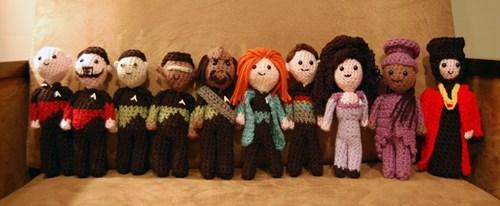 Star Trek,TNG,characters,Crocheted,Amigurumi