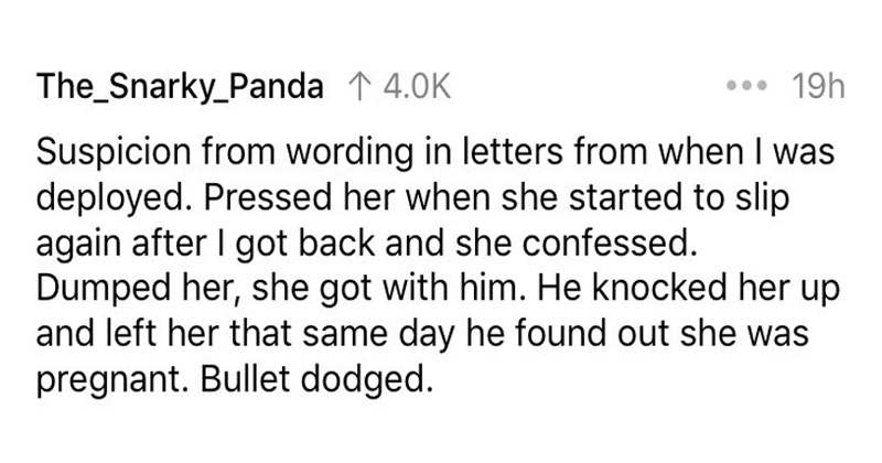 People share how they found out their partner was cheating on them.