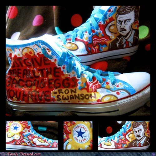 ron swanson chuck taylors all stars sneakers