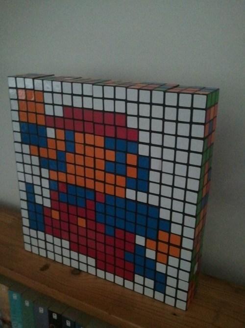rubiks cube,nerdgasm,mario,nintendo,Super Mario bros