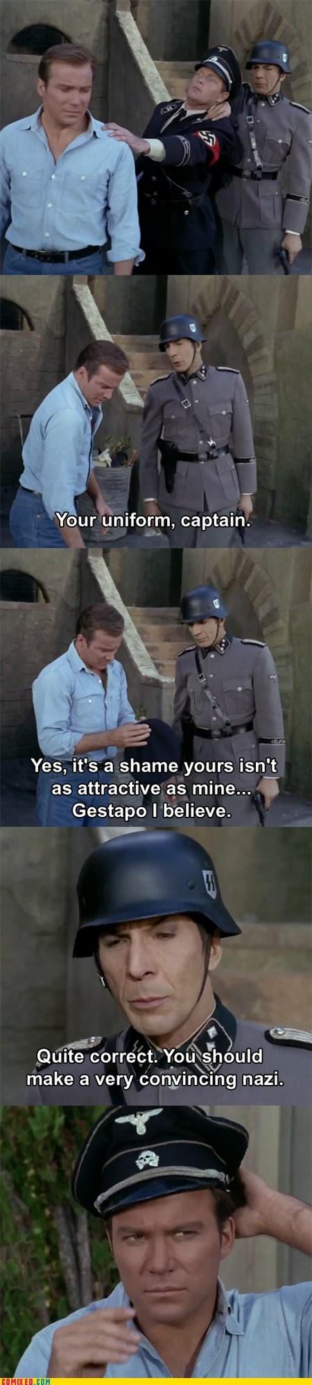 Star Trek Spock nazis William Shatner Leonard Nimoy TV - 6660478720