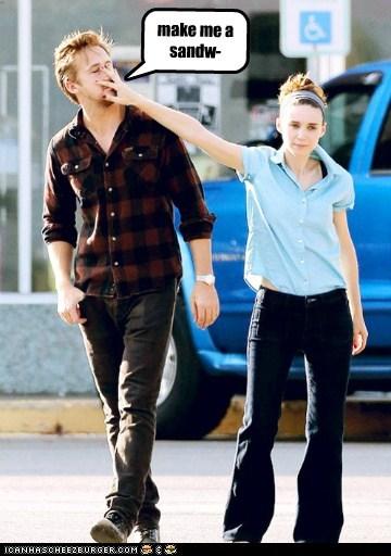 funny,actor,celeb,Ryan Gosling,Rooney Mara