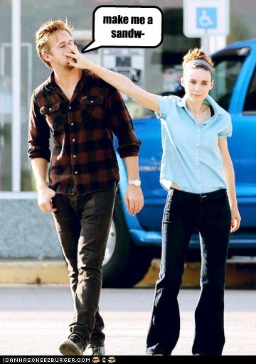 funny actor celeb Ryan Gosling Rooney Mara - 6660506880