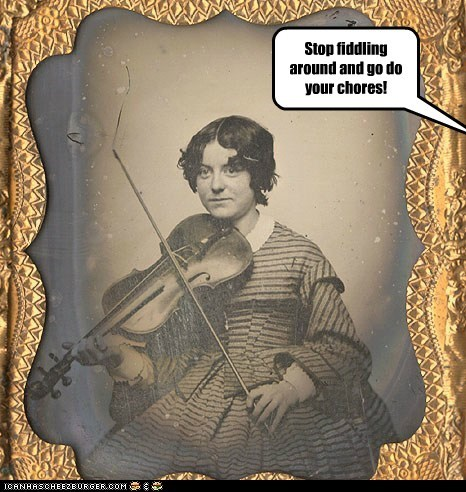 fiddle,violin,chores,practice,girl