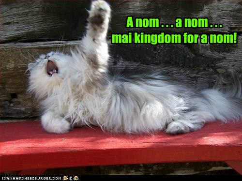 A nom . . . a nom . . . mai kingdom for a nom!